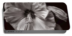 Portable Battery Charger featuring the photograph Rose Mallow Bloom by Louise Kumpf