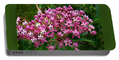 Rose Milkweed Portable Battery Charger by William Tanneberger