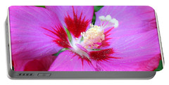 Rose Of Sharon Hibiscus Portable Battery Charger by Patti Whitten