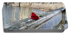 Portable Battery Charger featuring the photograph Rose On A Bridge by Verana Stark