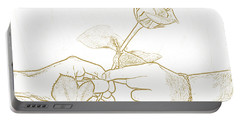 Rose Outline By Jan Marvin Studios Portable Battery Charger