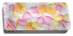Rose Petals Background Portable Battery Charger