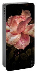 Rose Petals With Raindrops Portable Battery Charger