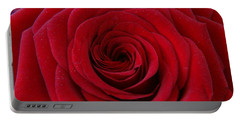 Portable Battery Charger featuring the photograph Rose Red by Shawn Marlow