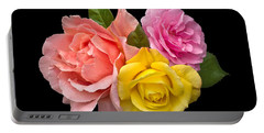 Rose Trilogy Portable Battery Charger by Jane McIlroy
