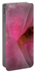 Portable Battery Charger featuring the photograph Rose Voluptuous by Jean OKeeffe Macro Abundance Art