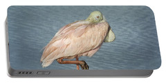 Roseate Spoonbill Portable Battery Charger by Kim Hojnacki