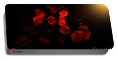 Roses And Black Portable Battery Charger