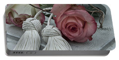 Portable Battery Charger featuring the photograph Roses And Tassels by Sandra Foster