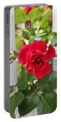 Portable Battery Charger featuring the photograph Roses Are Red by Joann Copeland-Paul