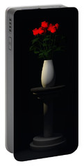 Portable Battery Charger featuring the digital art Roses For Sk... by Tim Fillingim