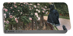 Roses In The Garden At Petit Gennevilliers Portable Battery Charger