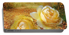 Roses In The Woods In Autumn Portable Battery Charger