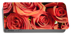 Portable Battery Charger featuring the photograph Roses On Your Wall by Joseph Baril
