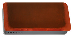 Rothko's Mulberry And Brown Portable Battery Charger by Cora Wandel