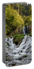 Portable Battery Charger featuring the photograph Roughlock Falls South Dakota by Patti Deters
