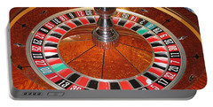 Roulette Wheel And Chips Portable Battery Charger