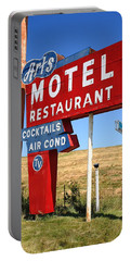 Route 66 - Art's Motel Portable Battery Charger