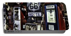Portable Battery Charger featuring the painting Route 66 by Muhie Kanawati