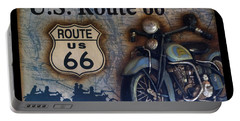 Route 66 Odell Il Gas Station Motorcycle Signage Portable Battery Charger