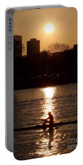 Rower Sunrise Portable Battery Charger by Kenny Glotfelty