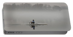 Rowing Into Morning Fog Portable Battery Charger by Gary Slawsky