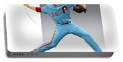 Roy Halladay Portable Battery Charger by Scott Weigner