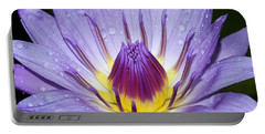 Royal Purple Water Lily #3 Portable Battery Charger