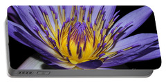 Royal Purple Water Lily #5 Portable Battery Charger by Judy Whitton