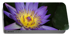 Royal Purple Water Lily #6 Portable Battery Charger