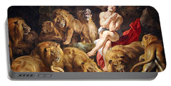 Portable Battery Charger featuring the photograph Rubens' Daniel In The Lions' Den by Cora Wandel