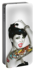 Ruby Rose - ' Ruby ' Portable Battery Charger by Christian Chapman Art
