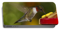 Ruby-throat Hummer Sipping Portable Battery Charger