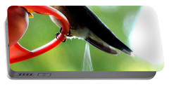 Ruby-throated Hummingbird Pooping Portable Battery Charger