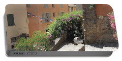 Portable Battery Charger featuring the photograph Rue De La Rose by HEVi FineArt