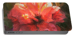 Ruffled Light Double Hibiscus Flower Portable Battery Charger