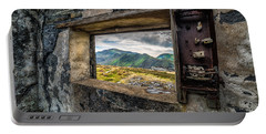 Ruin With A View  Portable Battery Charger by Adrian Evans