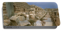 Ruins Of Ancient Roman City, Leptis Portable Battery Charger