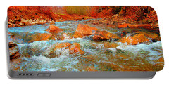 Running Creek 2 By Christopher Shellhammer Portable Battery Charger