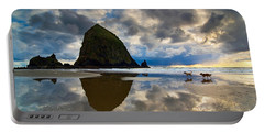 Running Free - Dogs Running In Beautiful Cannon Beach. Portable Battery Charger