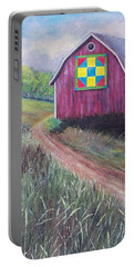 Portable Battery Charger featuring the painting Rural America's Gift by Susan DeLain