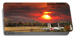 Portable Battery Charger featuring the photograph Rural Barns  My Book Cover by Randall Branham
