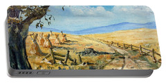 Rural Farmland Americana Folk Art Autumn Harvest Ranch Portable Battery Charger