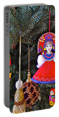 Russian Christmas Tree Decoration In Fredrick Meijer Gardens And Sculpture Park In Grand Rapids-mi Portable Battery Charger