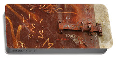 Rusted Steel Relic Portable Battery Charger