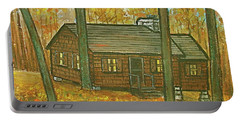 Rustic Cabin At Lake Hope Ohio Portable Battery Charger