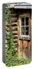 Rustic Cabin Window Portable Battery Charger by Athena Mckinzie