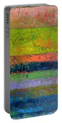 Rustic Layers  Portable Battery Charger by Michelle Calkins