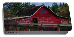 Portable Battery Charger featuring the photograph Rustic Old Horse Barn by Jordan Blackstone
