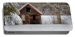 Rustic Shack In Snow Portable Battery Charger